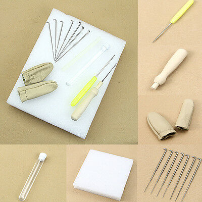 1set Needle Felting Starter Kit Wool Felt Tools Mat + Needle + Accessories Craft