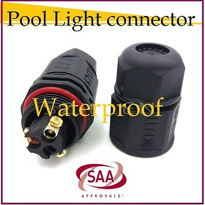 New Waterproof Pool Light Connector 2 Pin Cable Connector Ip68