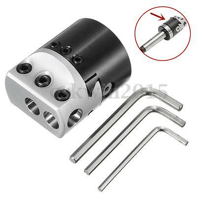 "2"" 50mm Boring Head 12mm Lathe Boring Bar Milling Holder For MT2 MT3 R8 Shank"