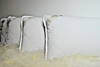 1x MERINO WOOL PILLOW + COTTON COVER NATURAL all sizes PERFECT FOR GIFT NEW