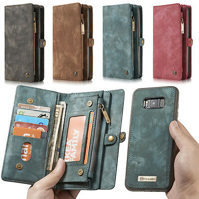 CaseMe Leather Removable Wallet Flip Case Stand Card Slot For Samsung S8/S8Plus