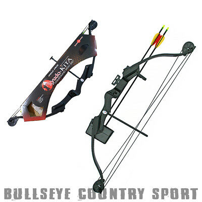 Kyudo Kita Complete Set 25lb Compound Bow With Bow Quiver Arrows & Guards
