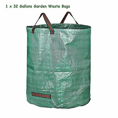 32 Gallon Heavy Duty Reuseable Gardening Leaf  Waste Bags Strong Webbing Handle
