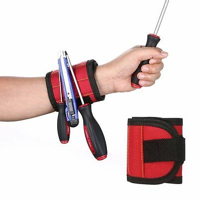 Magnetic Wrist Band Tool Cuff Belts for Holding Screws Nails Drill Bits 13 x 3""