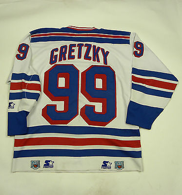 Starter New York Rangers Ice Hockey Jersey Shirt #99 Gretzky
