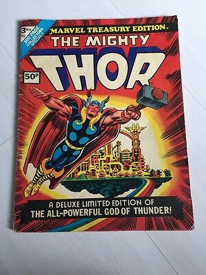 Marvel Treasury Edition #3 The Mighty Thor Comic 1974 Vintage Jack Kirby