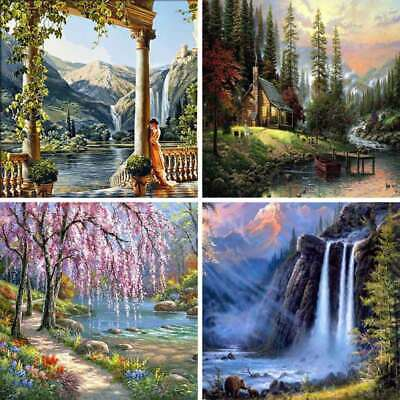 Wall Landscape Oil Painting By Numbers Digital Pictures Linen Modern Decor Decal