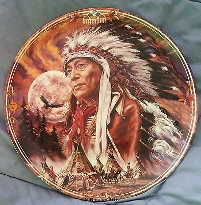 Spirit of the Full Moon Native Sky Crestley Collection collectors plate china