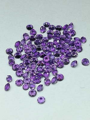AFRICA AMETHYST Natural Faceted Round Cut Calibrated 2mm 20,50,100 Pieces
