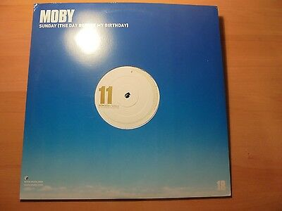 "MOBY 2 12 "" Promo Maxi SUNDAY (THE DAY BEFORE MY BIRTHDAY)  4 tracks 2003 / 17"
