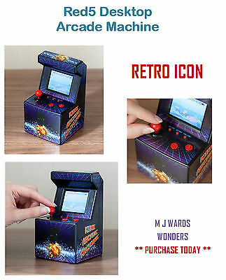 Thumbs Up! Desktop Mini Arcade Machine Retro 80s 240 Games Console Games Gift