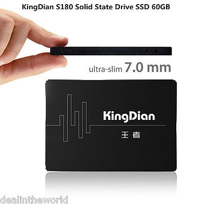 KingDian S180 7mm Ultra Slim Solid State Drive SSD 60GB 2.5'' SATA3 for Computer