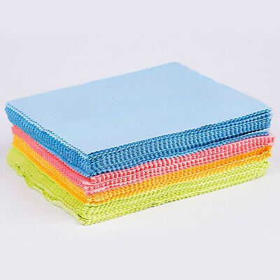 100Pcs Solid Cleaning Cloth Phone Screen Lens Glasses Microfiber Square Cleaner