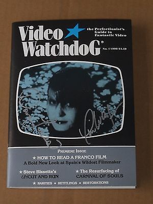 VIDEO WATCHDOG # 1 (1990) Signed Numbered Limited Edition Test Copy #19/50 RARE!
