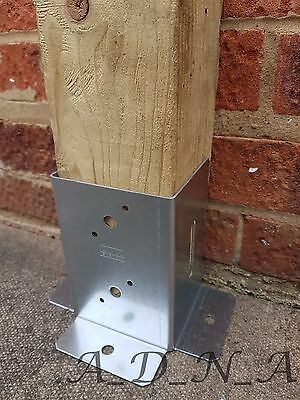 """GALVANISED RECTANGULAR FENCE POST SUPPORT , ANCHOR 46 71 91 101 121mm (1.8-4.8"""")"""