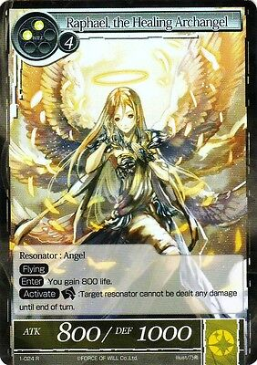 FOW TCG Raphael, the Healing Archangel 1-024 R Valhalla Force of Will ENG MINT