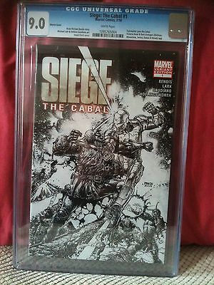 Siege The Cabal # 1 Cgc 9.0 Sketch Cover 1 In 75 Variant Marvel Comics