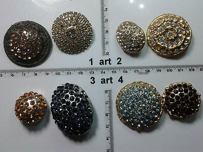 1 lotto bottoni gioiello smalti pietre vetro murrine buttons boutons vintage g3