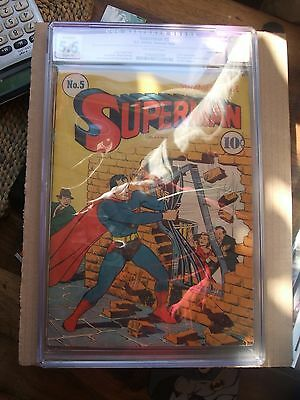 Superman # 5 Cgc 5.5 Restored Grade Summer  1940 Dc Comics