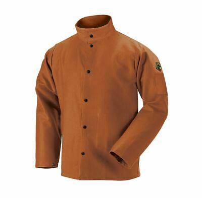"Revco Black Stallion FB2-30C 30"" 12oz Brown FR Welding Jacket Large XL 2XL 3XL"