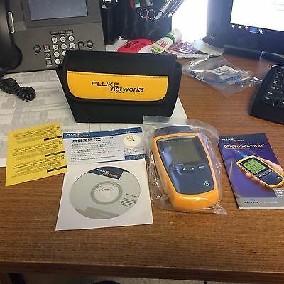 Fluke Networks Microscanner2 MS2-100 Cable Tester micro scanner 2 cable verifier