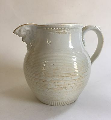 Antique Cream Colored Jug C1850 As Is