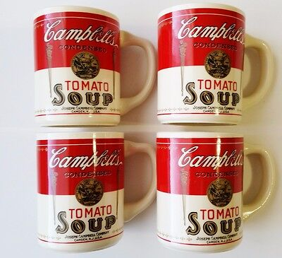 Vintage Campbell Soup Cups Mugs 1960's Lot of 4