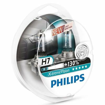 2x H7 Philips Xtreme Vision Headlight Lamps PX26d 130% more light 12972XV+S2