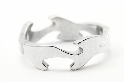Georg Jensen Fusion Ring 18ct White Gold Centre Piece Size 55 Brand New