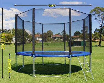 12ft Replacement Trampoline Safety Net Enclosure (4 Leg Version) Premium Quality