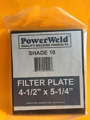 "POWERWELD 4-1/2"" x 5-1/4"" Welding Filter Plate Shade 10 NIB"