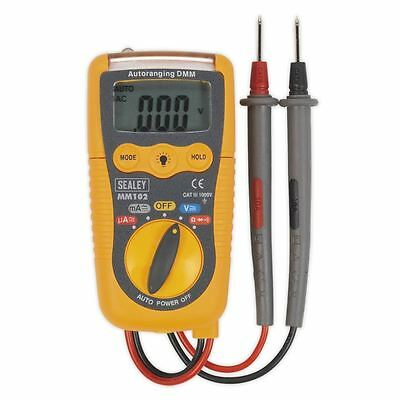 Sealey Professional Auto-Ranging Digital Multimeter AC DC Voltage LCD Display