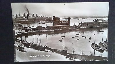 Cpsm General View Of Docks Southampton 1929