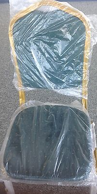 CROWN BACK STACKING BANQUET LOT OF 100 CHAIRs WITH 7 COLOR FABRICS