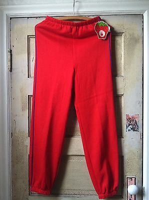 Vintage Strawberry Shortcake Red Pajama Pants Sweatpants NOS with tag! 1980's