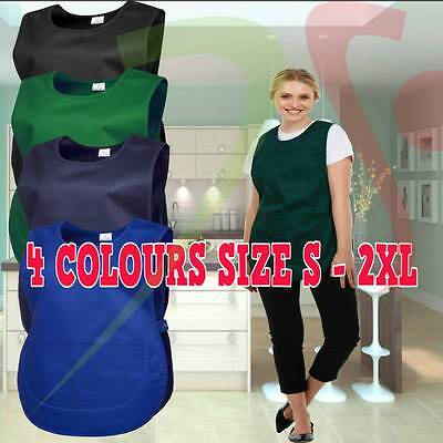 Unisex Premium Tabard Apron with Pockets Workwear Cafe Bar Catering Cleaning Lot