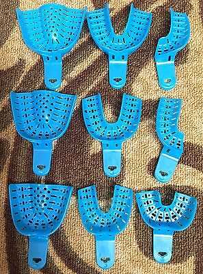 Dental Impression Trays Set of #1 to #9, Large, Medium,Small, Anterior, 9pcs Set
