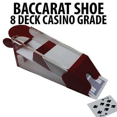 Casino Grade 8 Deck Blackjack and Blackjack Shoe Red