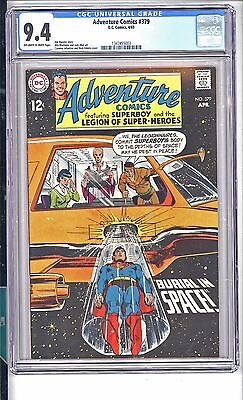 Adventure Comics #379  Cgc  9.4  Nm   Neal Adams Cover!  Ow/white Pages 1 Owner