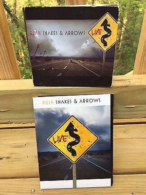 Nice Concert DVD and CD Lot of 2 RUSH Snakes & Arrows Live