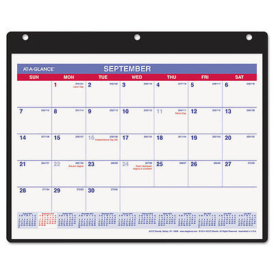 Monthly Desk/wall Calendar, 11 X 8 1/4, White, 2016-2017