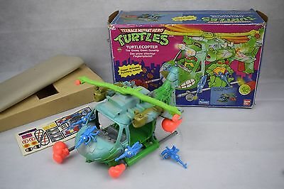 Teenage Mutant Ninja Turtles TMNT Battle Chopper Smiling Boxing Helicopter 1990