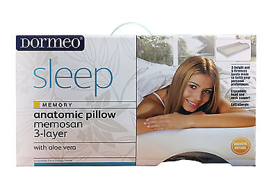 Orthopaedic Memory Foam Contour Anatomic Pillow, Neck & Back Support, FREE COVER