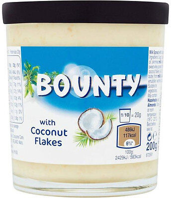 Bounty Milk Spread with Coconut Flakes 200g