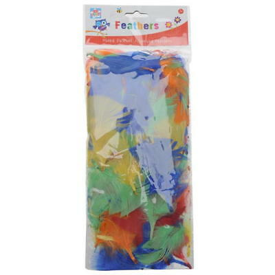 Kids Create Arts and Crafts Mixed Pack of Feathers, Fluffy, Assorted Colors 3+