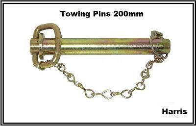 TOW PIN Tow Bar  HITCH PIN WITH LINCH Pin & CHAIN TOWING FARM MACHINERY TRACTORS