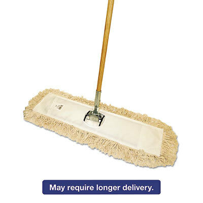 "Cut-End Dust Mop Kit, 36 X 5, 60"" Wood Handle, Natural"