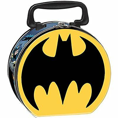 Batman Round Tin Stationery Small Lunch Box Lunchbox