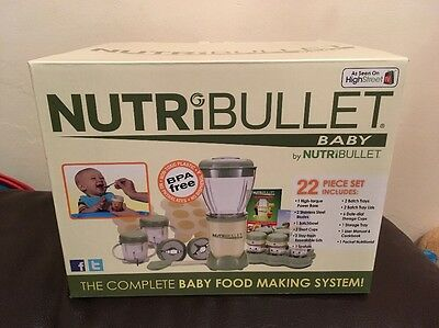 Nutribullet Baby The Complete Baby Food Making System New In Box, Blender