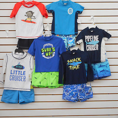 Toddler Boys Carter's & Oshkosh Size 3T Assorted 2PC. Swim Sets